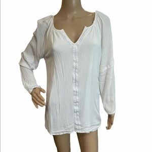 Hailey Lyn Whire Top, Size large